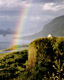 Rainbow over Crown Point, Columbia River Gorge, Oregon