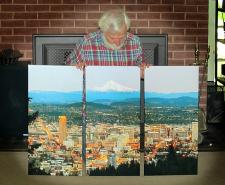 Canvas of our Portland Panorama triptych